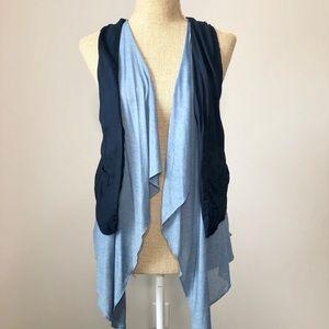 Chic & Lightweight Navy Blue Open Tank Vest